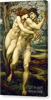 The Tree Of Forgiveness Canvas Print by Sir Edward Burne-Jones