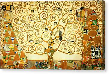 The Tree Of Life Canvas Print by Gustav Klimt