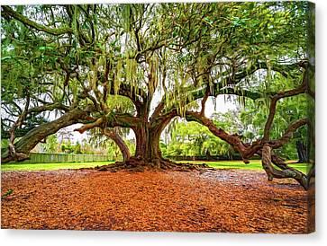The Tree Of Life - Paint Canvas Print by Steve Harrington