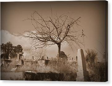 The Tree On Boot Hill  Canvas Print by Nature Macabre Photography