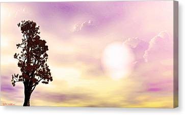 Canvas Print featuring the mixed media The Tree by Tyler Robbins