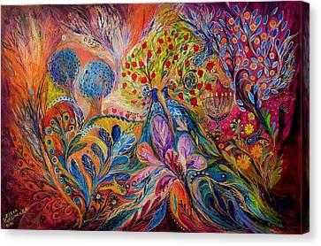 The Trees Of Eden Canvas Print by Elena Kotliarker