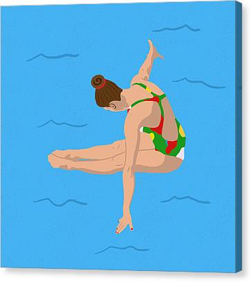 Water Swimming Pool Canvas Print - The Triple Twist by Nicole Wilson