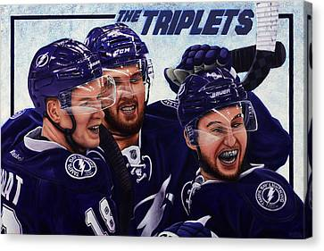 The Triplets Canvas Print by Marlon Huynh