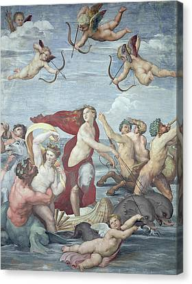 The Triumph Of Galatea Canvas Print by Raphael