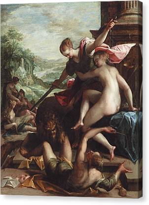 The Triumph Of Truth Canvas Print by Johann or Hans von Aachen