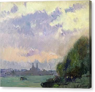 The Trocadero Canvas Print by Albert Charles Lebourg