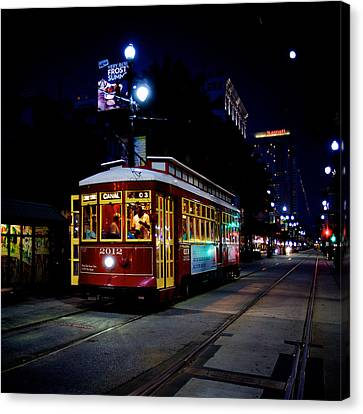 Canvas Print featuring the photograph The Trolley by Evgeny Vasenev
