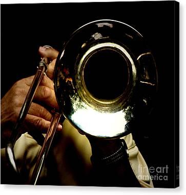 The Trombone   Canvas Print by Steven Digman