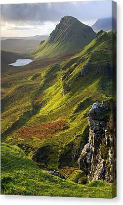 The Trotternish Hills From The Quiraing Isle Of Skye Canvas Print by John McKinlay