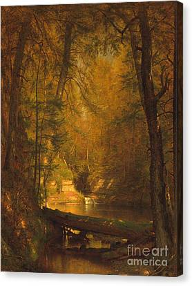 Canvas Print featuring the photograph The Trout Pool by John Stephens