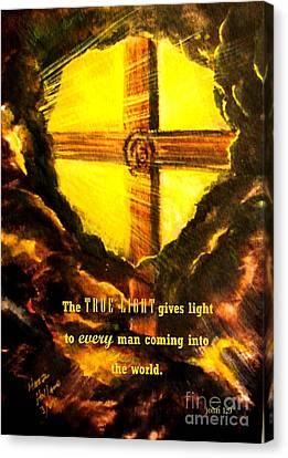 The True Light Canvas Print by Hazel Holland