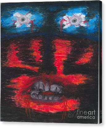 Canvas Print featuring the painting The Truth by Ania M Milo