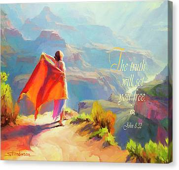 Word Art Canvas Print - The Truth Will Set You Free by Steve Henderson