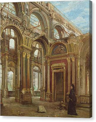 The Tuileries After The Paris Commune Canvas Print by Alexandre Marre-Lebrett