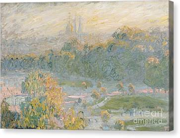 Tuileries Canvas Print - The Tuileries by Claude Monet