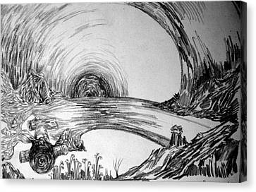 The Tunnel Canvas Print by Padamvir Singh