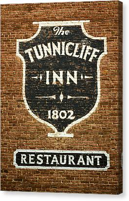 The Tunnicliff Inn - Cooperstown Canvas Print by Stephen Stookey