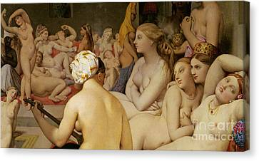 Change Canvas Print - The Turkish Bath by Ingres
