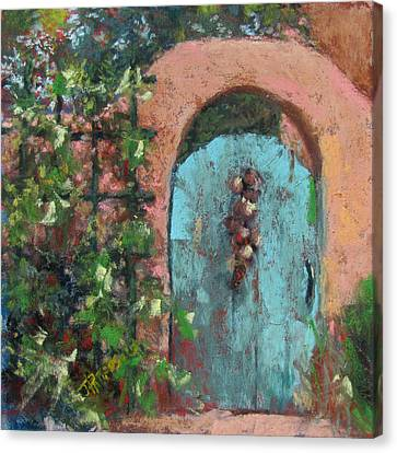 The Turquoise Door Canvas Print by Julia Patterson