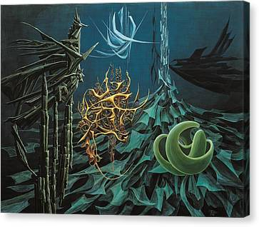 The Turquoise Night Canvas Print by Charles Cater
