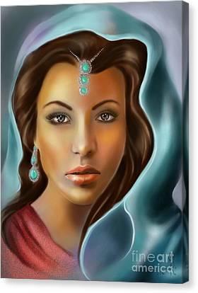 The Turquoise Rania... Canvas Print