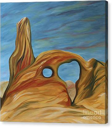 Canvas Print featuring the painting The Turret Arch by Christiane Schulze Art And Photography
