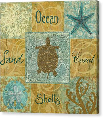 Turtle Shell Canvas Print - The Turtle by Marilu Windvand
