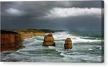 Canvas Print featuring the photograph The Twelve Apostles by Marion Cullen