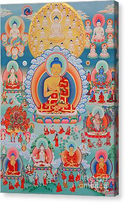 The Twelve Primordial Teachers Of Dzogchen - Tonpa Chu Ni Canvas Print