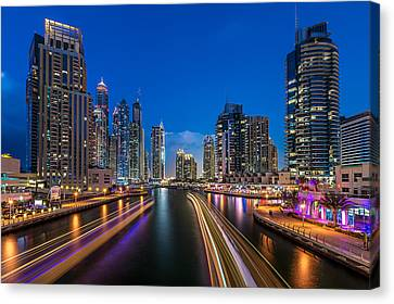 The Twilights Dubai Canvas Print by Vinaya Mohan
