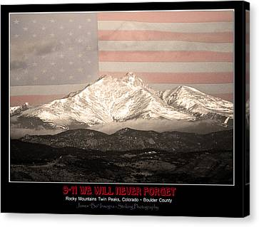 The Twin Peaks - 9-11 Tribute -poster Canvas Print by James BO  Insogna