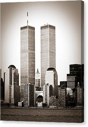 The Twin Towers Canvas Print by Frank Winters