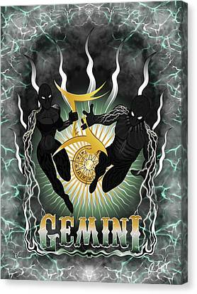 The Twins Gemini Spirits Canvas Print