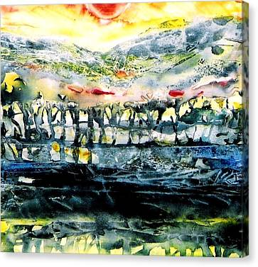 Canvas Print featuring the painting The Twisted Reach Of Crazy Sorrow by Trudi Doyle