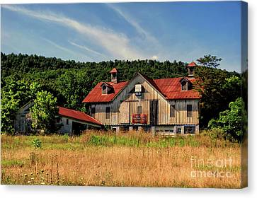 The Two Cupola Barn Canvas Print by Lois Bryan