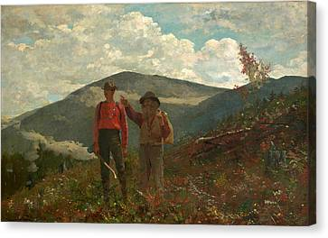 Canvas Print featuring the painting The Two Guides by Winslow Homer