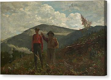 The Two Guides Winslow Homer Canvas Print by MotionAge Designs