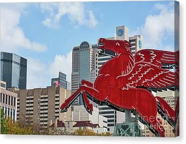 Dallas Two Pegasus Canvas Print