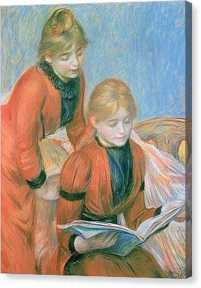 The Two Sisters Canvas Print by Pierre Auguste Renoir