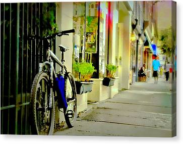Two Wheeler Canvas Print - Bike'n It by Diana Angstadt