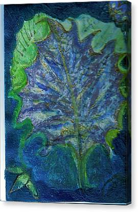 The Underside Of The Autumn Leaf Canvas Print by Anne-Elizabeth Whiteway