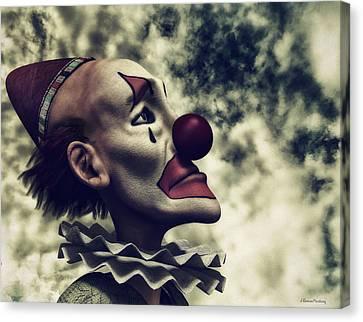 The Understanding Clown Canvas Print by Ramon Martinez
