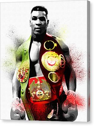 Memorabilia Canvas Print - The Undisputed Heavyweight Champion Of The World by Diana Van