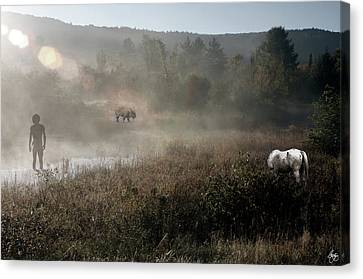 The Unexpected Visitor Canvas Print
