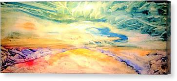 Inner World Canvas Print - The Unexplored Earth by Madina Kanunova