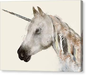 Unicorn Canvas Print - The Unicorn by Bleu Bri