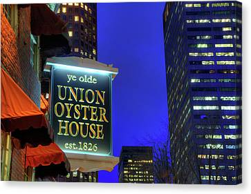 Canvas Print featuring the photograph The Union Oyster House - Boston by Joann Vitali