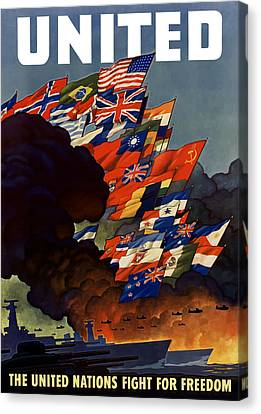 Warships Canvas Print - The United Nations Fight For Freedom by War Is Hell Store