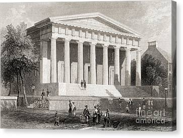 The United States Bank Philadelphia, Usa Canvas Print by American School